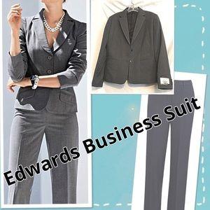 Edwards Professional Business Suit Pantsuit Size 8